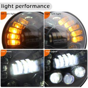 Whosaleの回転シグナルランプが付いているオフロード7インチのヘッドライトLED