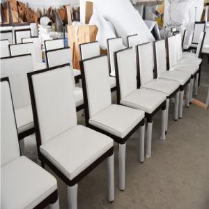 Restaurante comercial Silla de Comedor madera maciza de cuero de PU y la tapicería de tela (HD071)