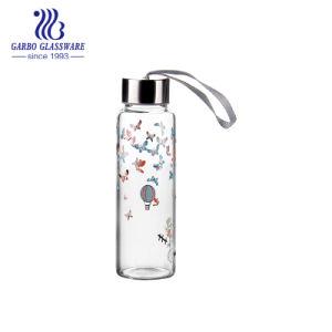 印刷されたロゴ(GB580060360/YH/DR/520)の350mlホウケイ酸塩ガラスの水差し