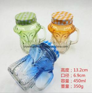 OEMの装飾的な帽子およびわらが付いている動物の形の石大工の食糧ガラス瓶