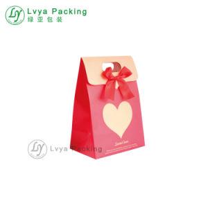 Impresos personalizados Pajarita bolsa de papel para embalaje de dulces de regalo de boda con su propio logotipo