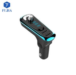 Transmisor FM Bluetooth Adaptador para coche MP3 Audio Reproductor de música con soporte cargador coche USB Dual SD TF tarjeta de llamadas manos libres