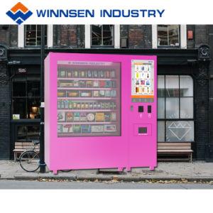 Função do líquido de mini-Mart máquina de venda automática com microondas para distribuir os Produtos Alimentares e Bebidas