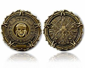 Effet d'Ombrage spécial avec des bords avec Lasering nombre et de souvenirs Letterschallenge Coin