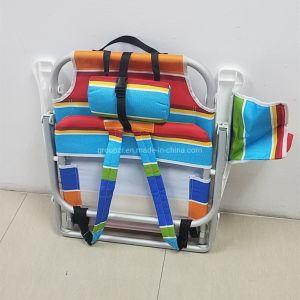 Lazer Praia de alumínio Dobrável Portátil Backpack cadeira com saco térmico