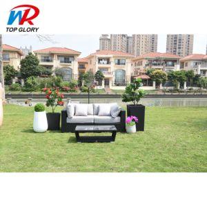 Chaud de style moderne de vente de meubles de jardin Meubles de jardin de luxe en rotin Canapé-Set