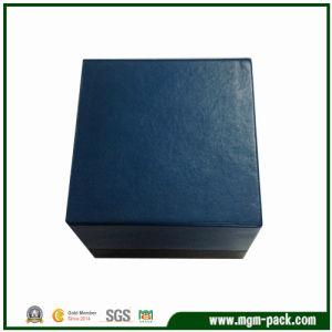 Le luxe d'enrubannage de papier personnalisé en plastique bleu Watch Box