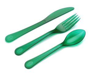 Jx162 elegantes talheres Verde define como ferramenta de cozinha