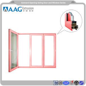 Los materiales de construcción y el lado colgado de perfiles de aluminio puertas