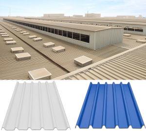 La couleur du panneau de toiture en carton ondulé recouvert de PVC