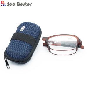 Muito bom de alta qualidade Venda Tr90 óculos de leitura de dobragem de  bolso com fecho de EVA caso e808d5ab40