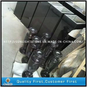 De absolute Zwarte Vaas van de Bloem van de Grafsteen/van de Grafsteen/van het Monument van het Graniet Shanxi