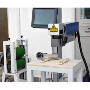 20 Вт волокна лазерный станок для маркировки пластмассовых материалов