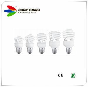 Lampada economizzatrice d'energia, lampada fluorescente, spirale mezza, tubo del T2 di 7mm