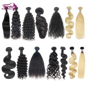 Cheveux frisés Kinky Morein vierge en vrac pour le tressage des cheveux Kinky les cheveux bouclés aucun accessoire naturel en vrac