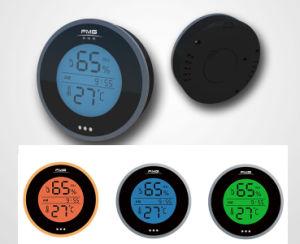 Higrómetro y termómetro digital con el registro de datos