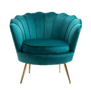 Venda por grosso de Aço Inoxidável Pernas Ouro Luxo Veludo de Braço Cadeira de jantar