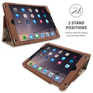 Accessoires de table Stand en cuir Nubuck de cas militaire de couvercle de boîtier de fibre optique