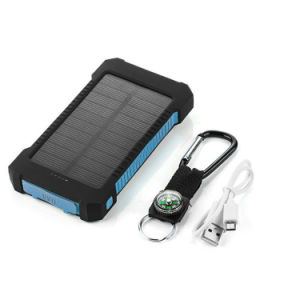 Flashligh étanche IPX6 10000mAh Banque d'énergie solaire d'urgence