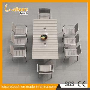 Moderner Aluminiumfreizeit-Speisetisch-gesetzter Patio-Garten-im Freienmöbel