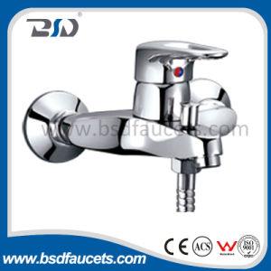 壁に取り付けられた浴室の浴槽の蛇口のミキサーのコックの手持ち型のシャワーのコック