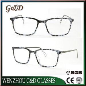 Nouveau design de mode d'acétate de couleur ambre Mix spécial en métal de haute qualité Châssis optique lunettes Boutique