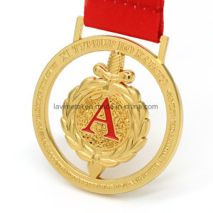 주문을 받아서 만들어진 아연 합금 금 도금 포상 스포츠 메달