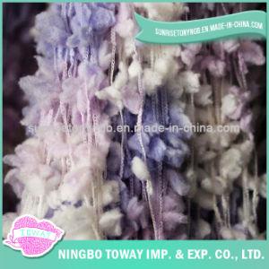 Lado de croché lã tricô POM POM acrílico Tt Fios fantasia