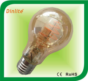 Venda a quente A19 Gold filamento da lâmpada da luz de LED do parafuso