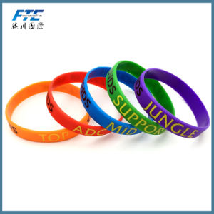 braccialetti del Wristband dei ragazzi e delle ragazze di amicizia del silicone di sport 3D
