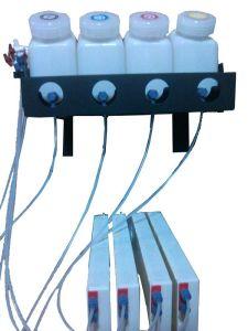 Hete Verkoop Systeem van de Levering van de Inkt van 1.5 L het Ononderbroken/het UVSysteem van de Tank van 4+4 Inkt voor Digitale Druk