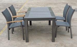 Piscina Jardim Mesa de jantar de alumínio definir a mobília do pátio