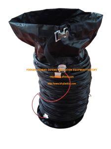 La preuve d'explosifs noir la gaine de ventilation à air flexible avec pince de masse