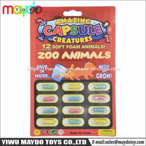 Animali molli magici di stupore del giardino zoologico della gomma piuma della capsula crescente delle creature che espandono il giocattolo della novità della spugna