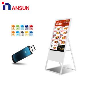 Ужин тонкий портативный Digital Signage реклама ЖК-дисплей для ресторанов