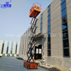 Shandong Juxin Venta caliente el motor de accionamiento hidráulico DC cargador de batería eléctrica de la plataforma de elevación de la máquina con la certificación ISO CE