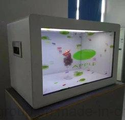 Yashi 23,6 pouces écran LCD transparent de la publicité commerciale