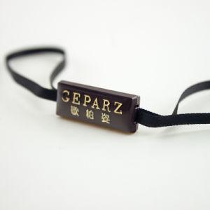 Accesorios de prendas de vestir las etiquetas de la junta de plástico con goma de gota de cristal