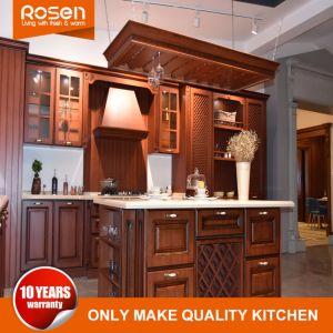 Red Estilo Clássico cascos de madeira maciça de armários de cozinha móveis