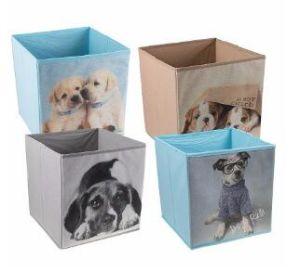 Ropa/Underware/Extras Caja de almacenamiento de tejido con compartimentos y la impresión