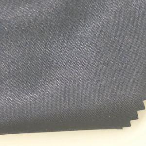 Tissu satiné brillant en polyester pour la tenue vestimentaire