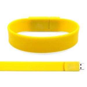 Pulsera de caucho de silicona de colores Hot vender una unidad flash USB con logo personalizado
