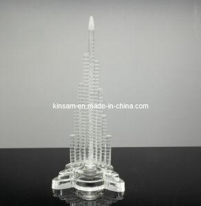 Crystal Burj Khalifa el edificio de cristal de la torre de la artesanía (modelo KS07050)