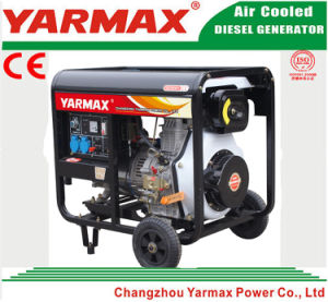 Yarmax 공기에 의하여 냉각되는 단 하나 실린더 디젤 엔진 열린 구조 디젤 엔진 발전기 세트 Genset Ym7500ea