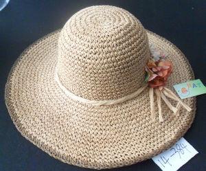 Sombrero de Paja de papel trenzado dama