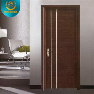 Porta de composto de madeira maciça de estilo moderno para apartamento ou escola para o Oriente Médio (DS-080)