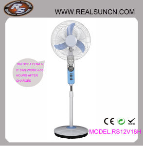 WS-Gleichstrom Double Duty Rechargeable Fan 16inch mit LED Lamp (RS12V16H)