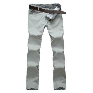 Pantaloni freschi di colore di modo degli uomini della saia casuale del cotone