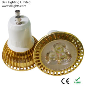 Gold Colored Dimmable GU10 3W LED Spotlight