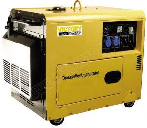 Ce/CIQ/Soncap/ISOのホーム使用のための5kw携帯用無声ディーゼル発電機
